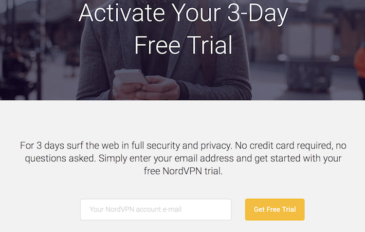 3 day free trial nordvpn