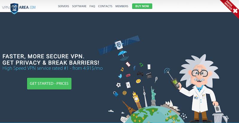 vpnarea-homepage