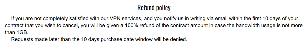 trust zone refund