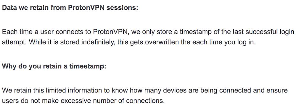protonvpn log policy