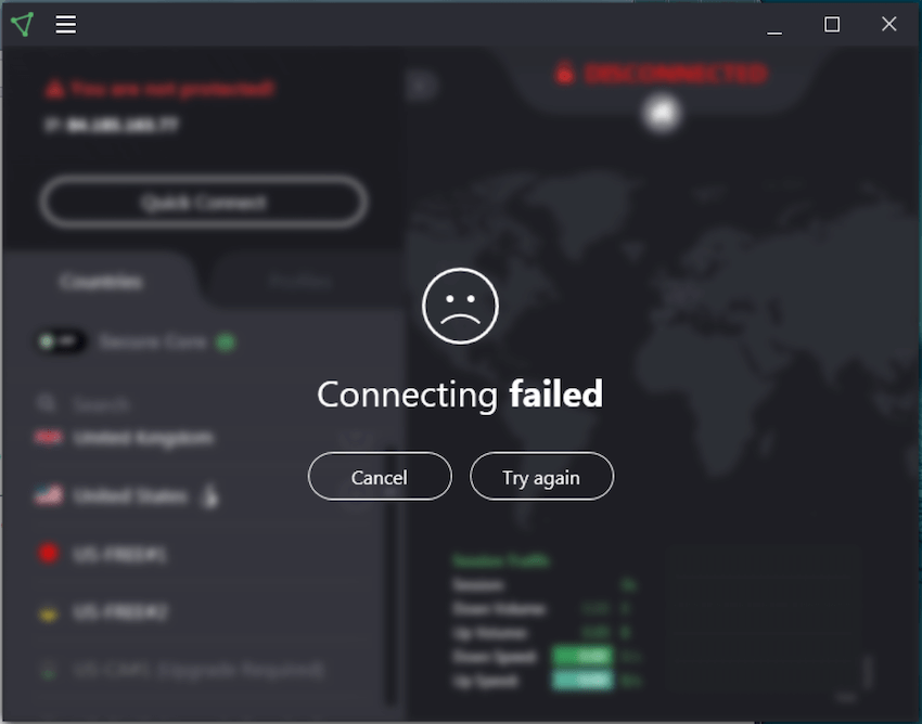 protonvpn not connecting 2