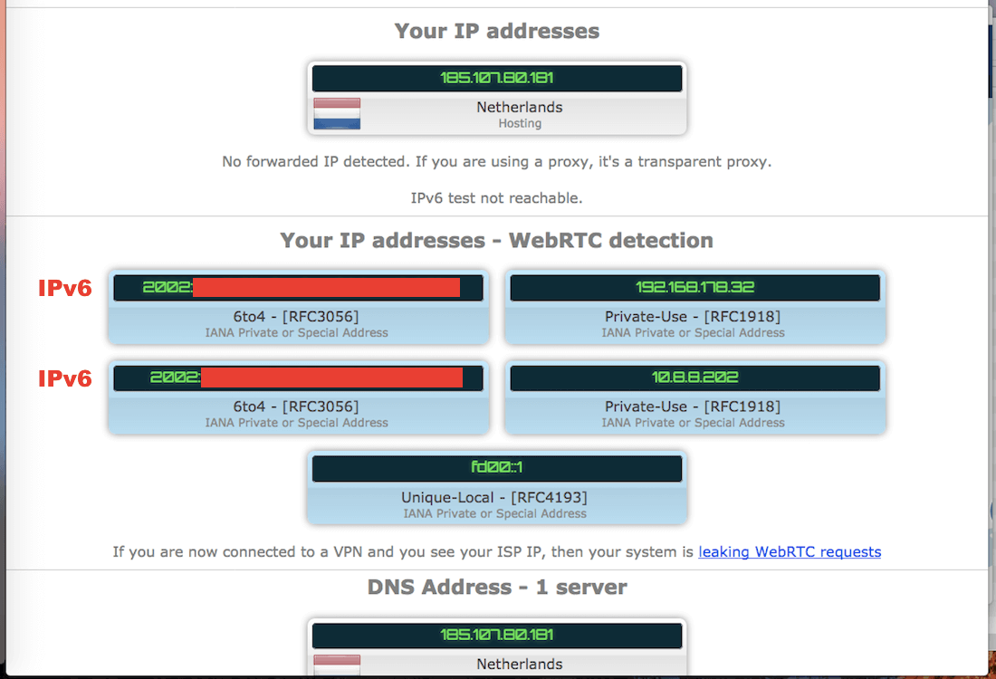 nordvpn webrtc leak mac