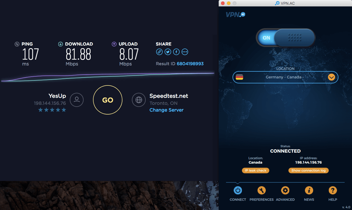 mac os vpn speed