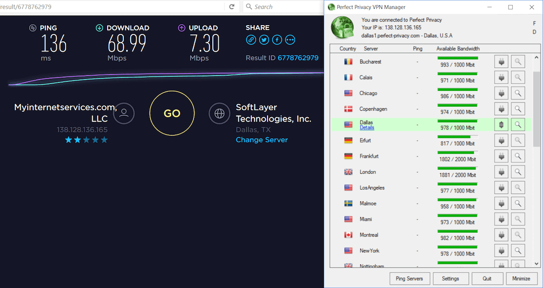 perfect privacy vpn speed