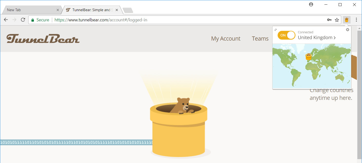 tunnelbear chrome extension