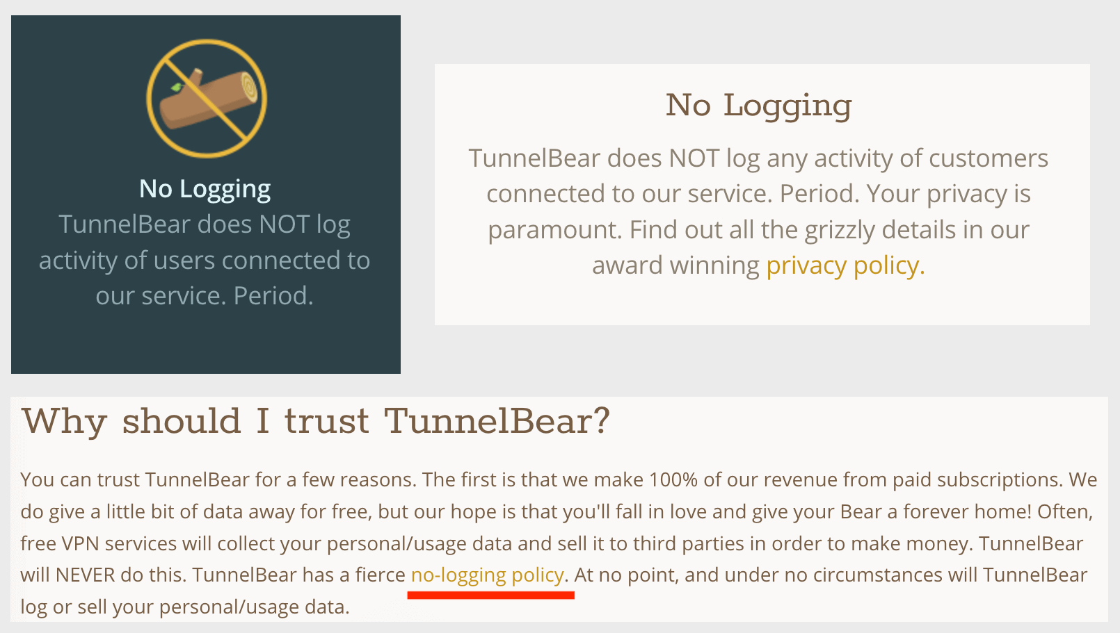 tunnelbear logs