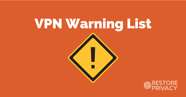 vpn warning list