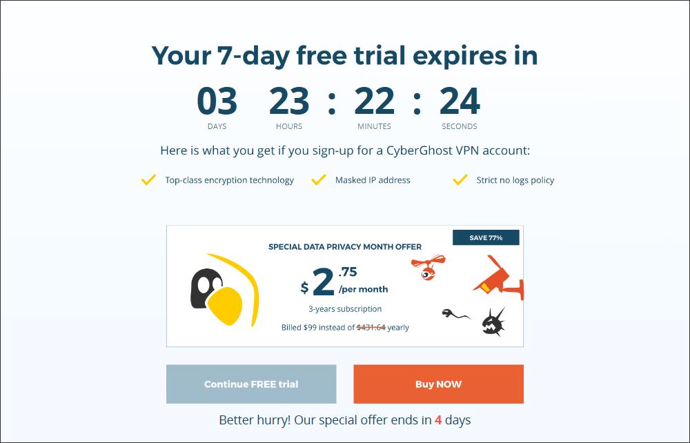 cyberghost free