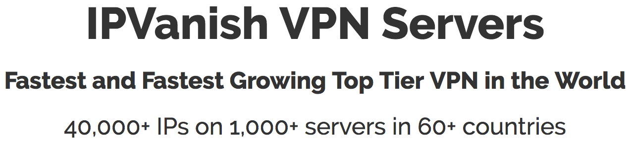 Promotion Ip Vanish VPN