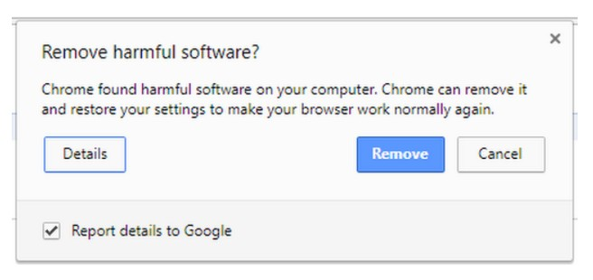 google chrome scanning files