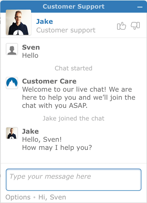 nordvpn live chat support