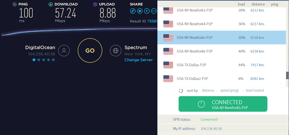 vpnarea speed review