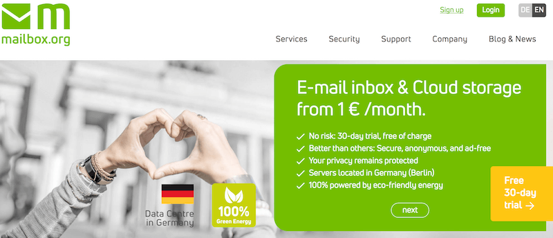 mailbox.org secure email