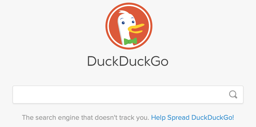 duckduckgo private search