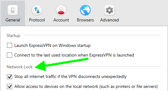 network lock kill switch expressvpn