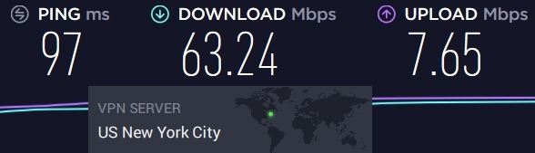 nordvpn pia speed test