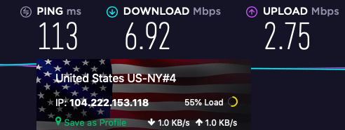 protonvpn us speed test