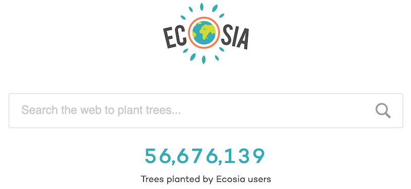 ecosia search engine trees privacy