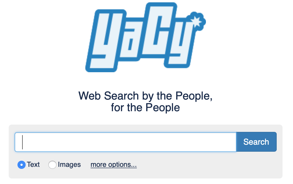 yacy private search engine