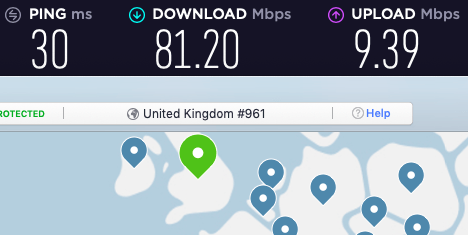 nordvpn for uk speed test