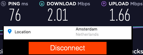 Amsterdam purevpn speed