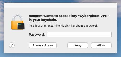 Cyberghost keychain