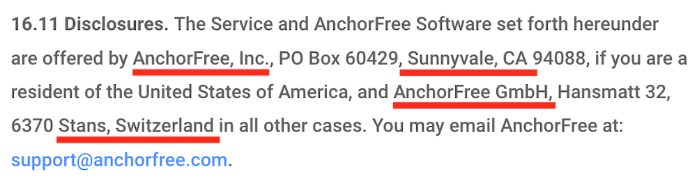 anchorfree betternet