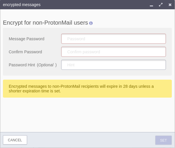protonmail encrypted messages