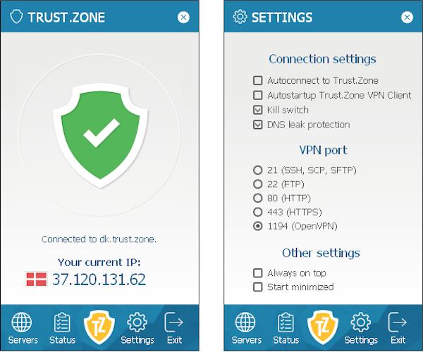 trustzone vpn client