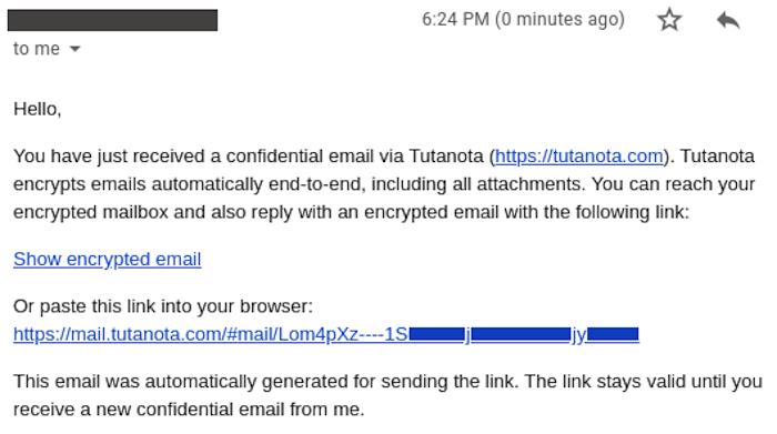 tutanota symmetric encryption emails