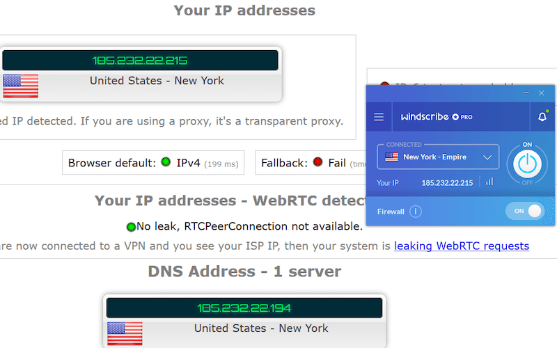 windscribe secure ip dns leaks