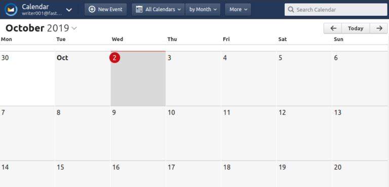 fastmail calendar