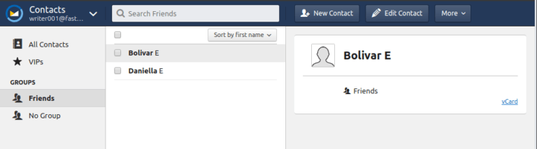 fastmail contacts