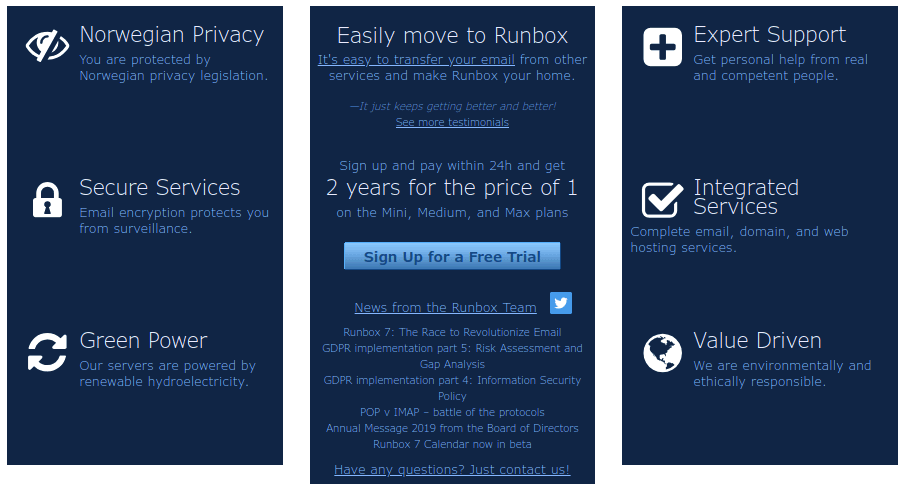 runbox features