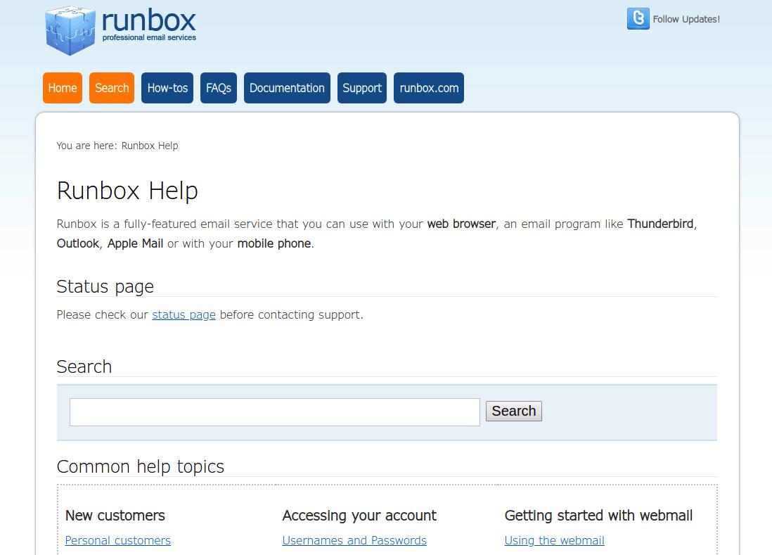 runbox support