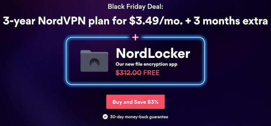 NordVPN black friday cyber monday deal
