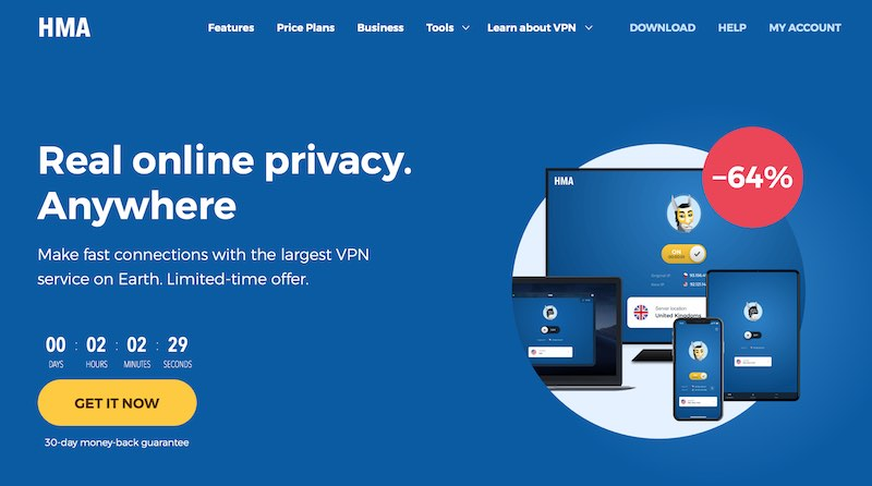 HMA vpn hidemyass review