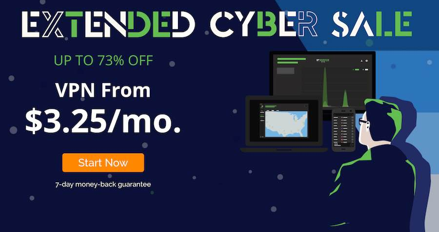 ipvanish cyber sale