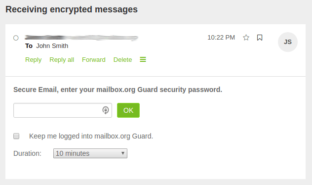 mailbox.org encryption