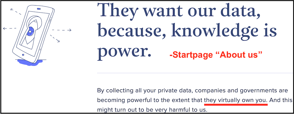 startpage privacy and data collection