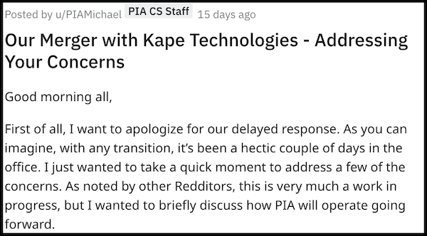 PIA merger kape