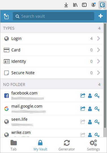 Bitwarden password vault