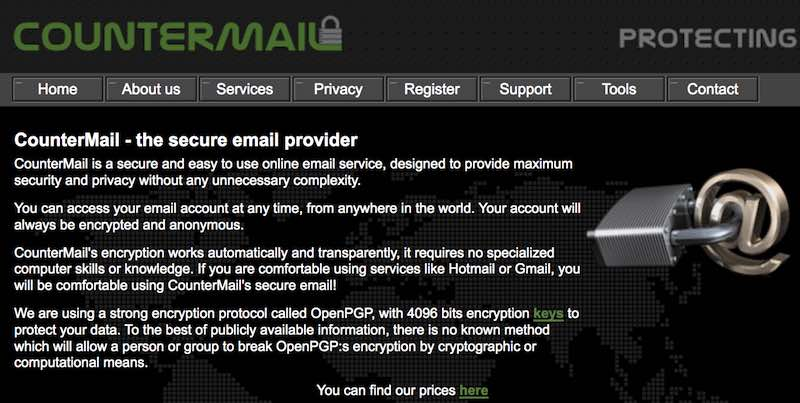 countermail secure email