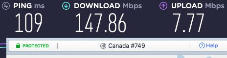 nordvpn canada speeds