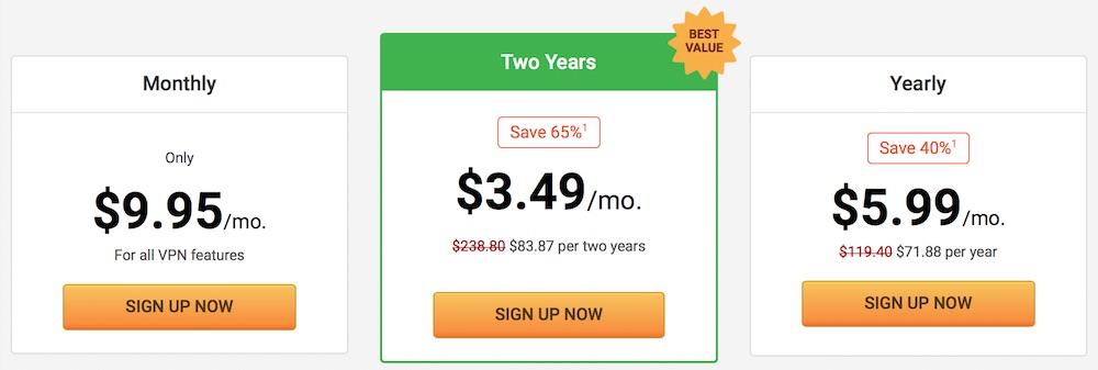 private internet access price nordvpn