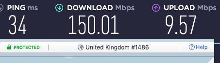 nordvpn uk speeds with cyberghost