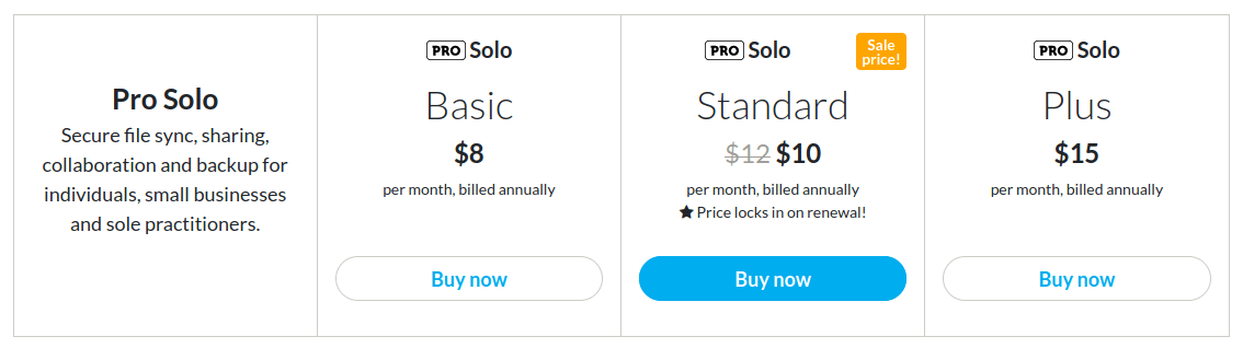 sync cloud storage prices