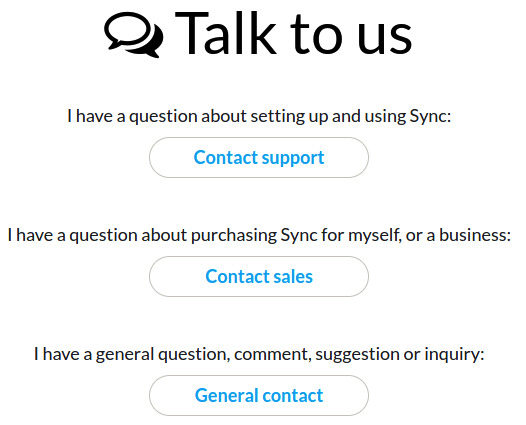 sync.com support