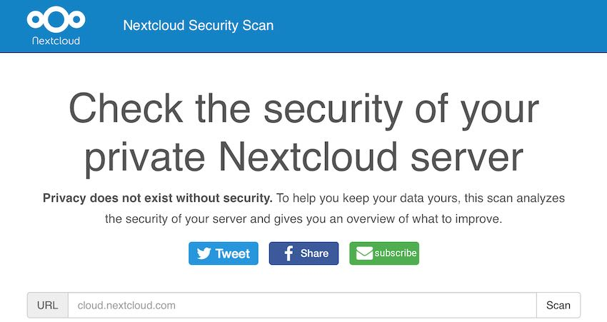 Nextcloud Security Scan