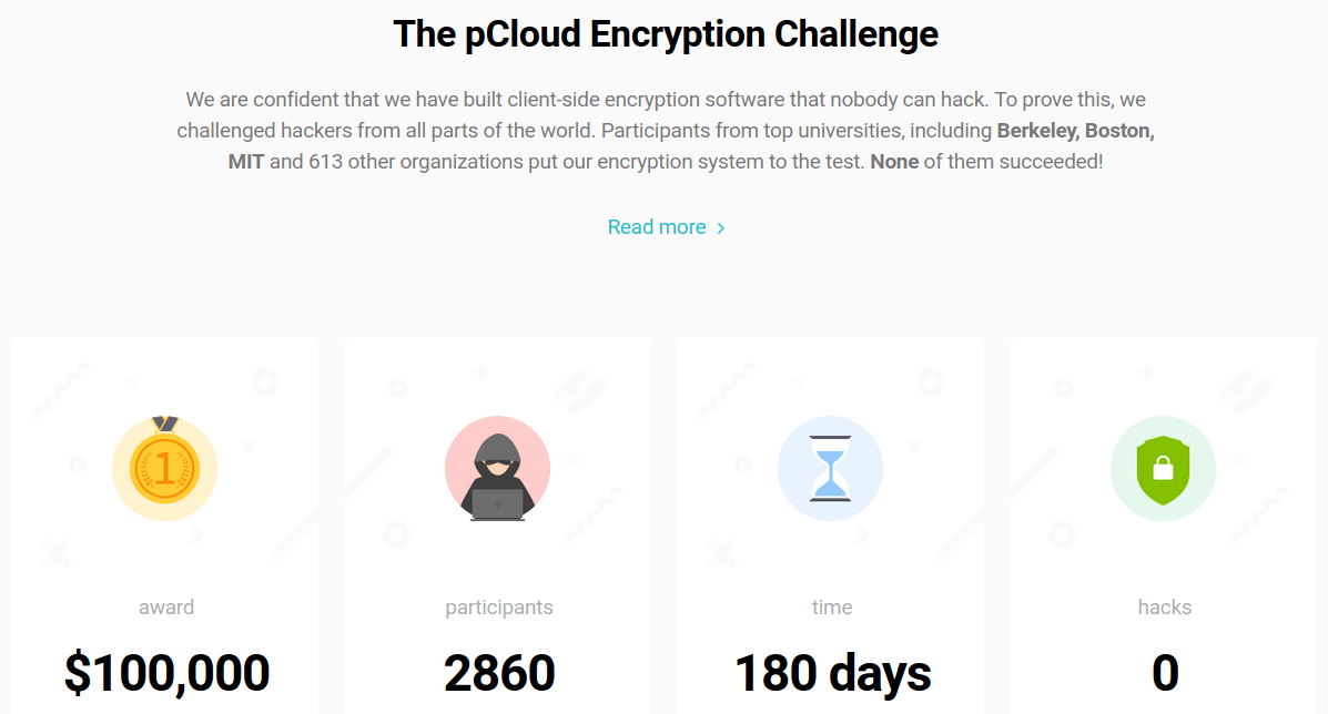 The pCloud Encryption Challenge invited hackers to test the company's client-side encryption